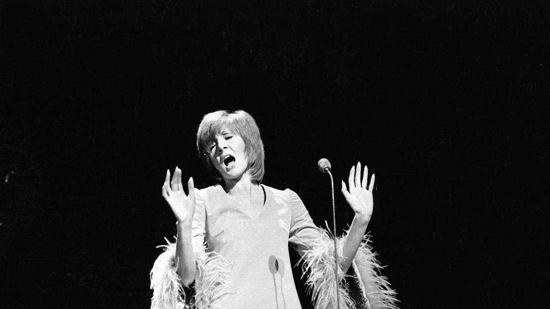 Cilla Black performs in 1969