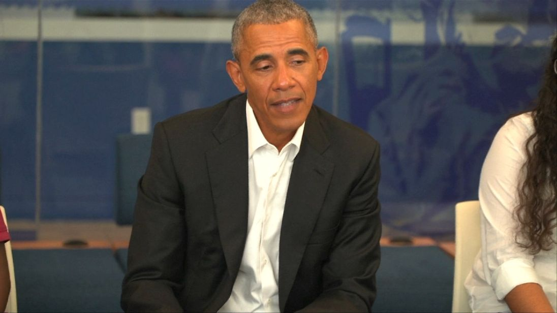 Barack Obama likes to chat to America's youth because he says he believes the problems of the future can be solved by them