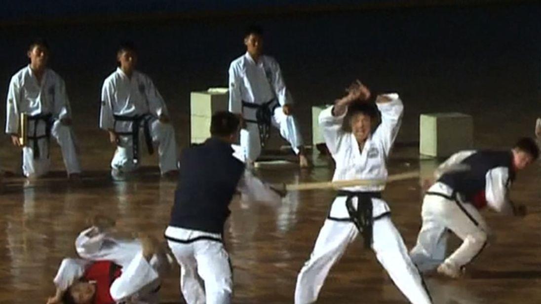 The opening ceremony of the 2017 ITF Taekwondo World Championships