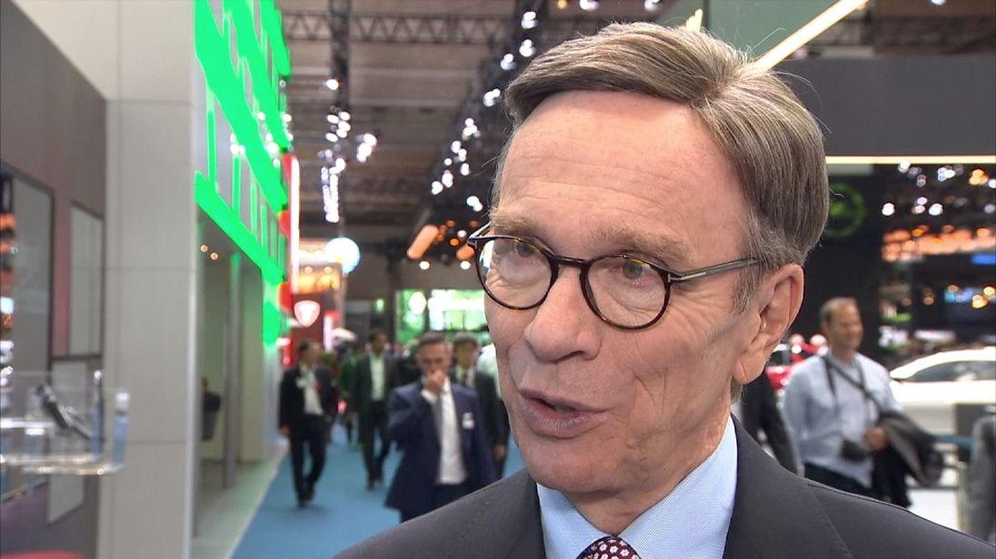Matthias Wissmann, head of Germany's automobile association