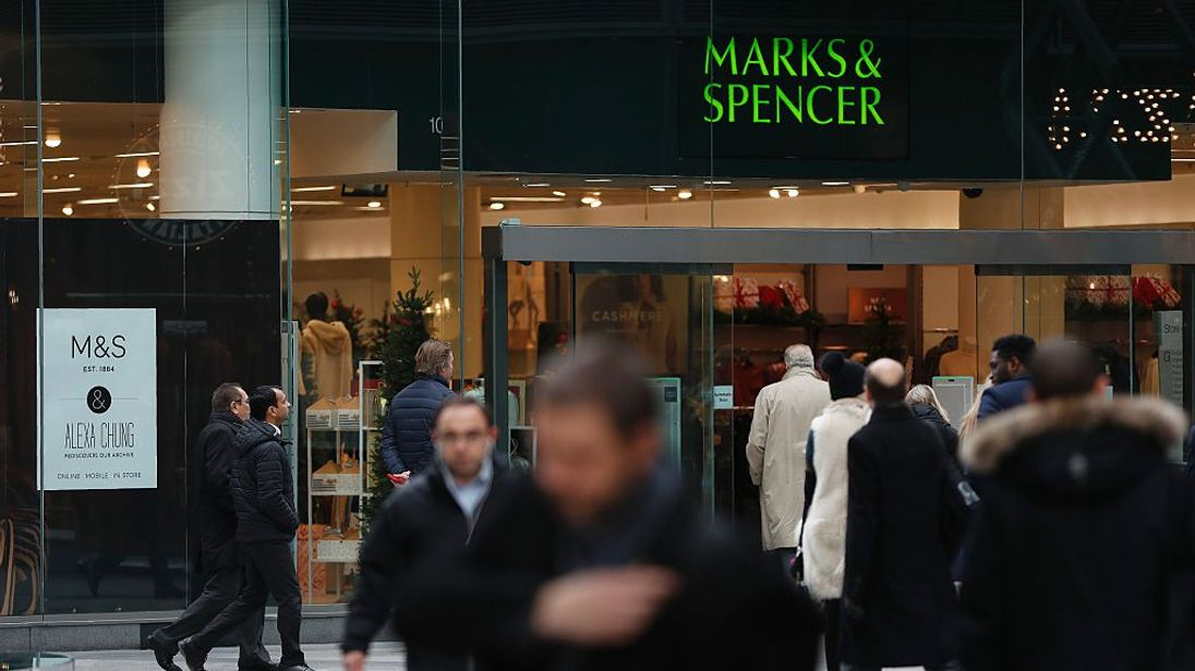 British retailer Marks & Spencer reports a rise in profits