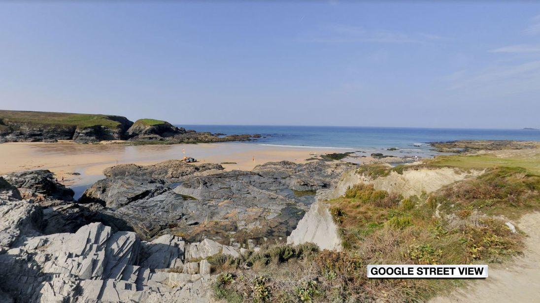 It is believed the men were fishing off rocks at Treyarnon Bay