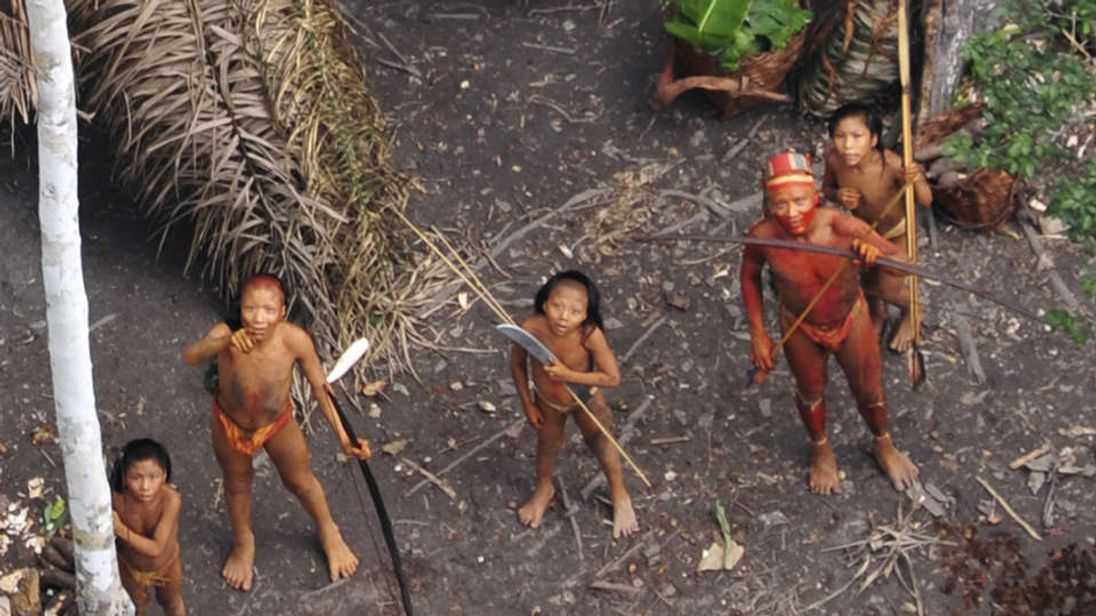 Members of another uncontacted tribe, seen from the air. Pic: G Miranda, Funai, Survival