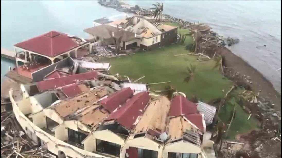 Hurricane Irma has left many buildings on the British Virgin Islands as rubble