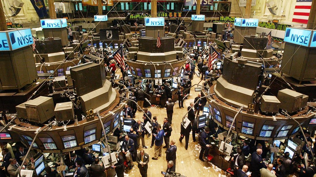 Traders working on the floor of the New York Stock Exchange
