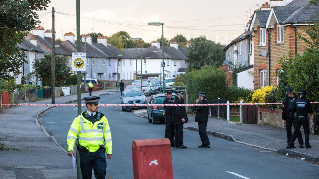 Police operation in Sunbury