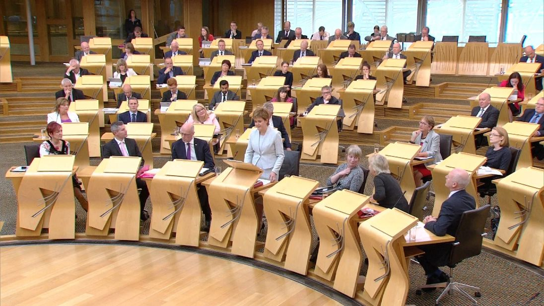 Nicola Sturgeon MSP announces a deposit return scheme for plastic drinks containers in Scotland