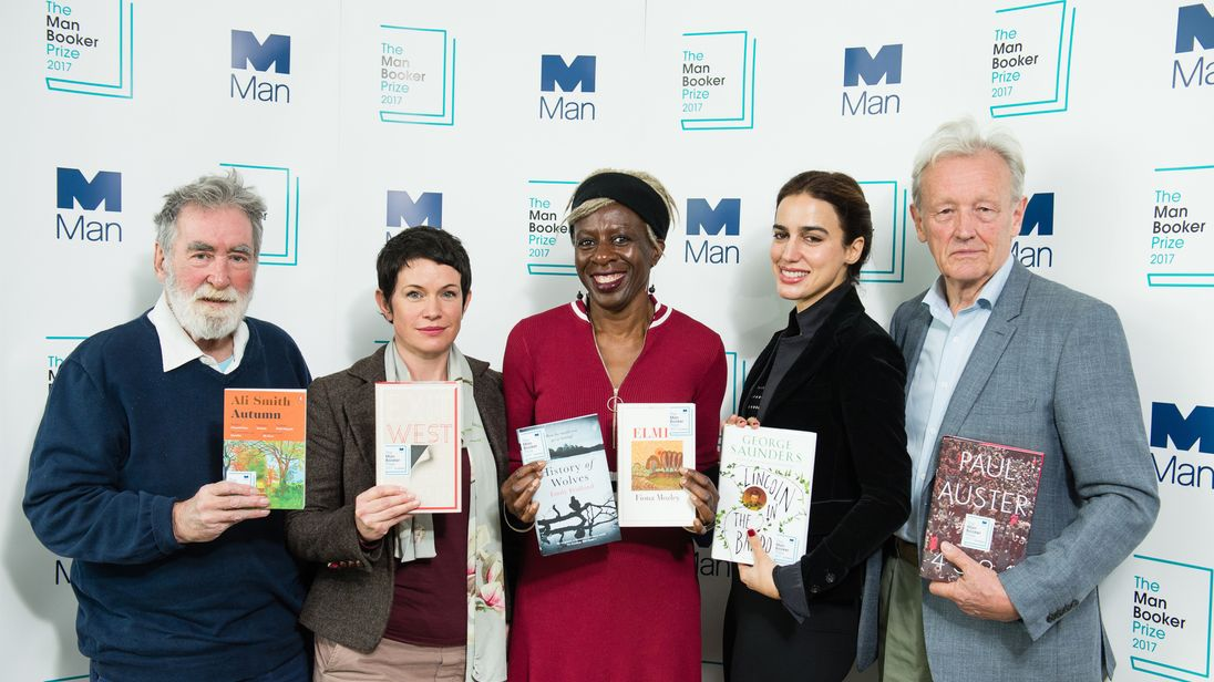 Colin Thubron (far right) with the other judges of this year's Man Booker Prize
