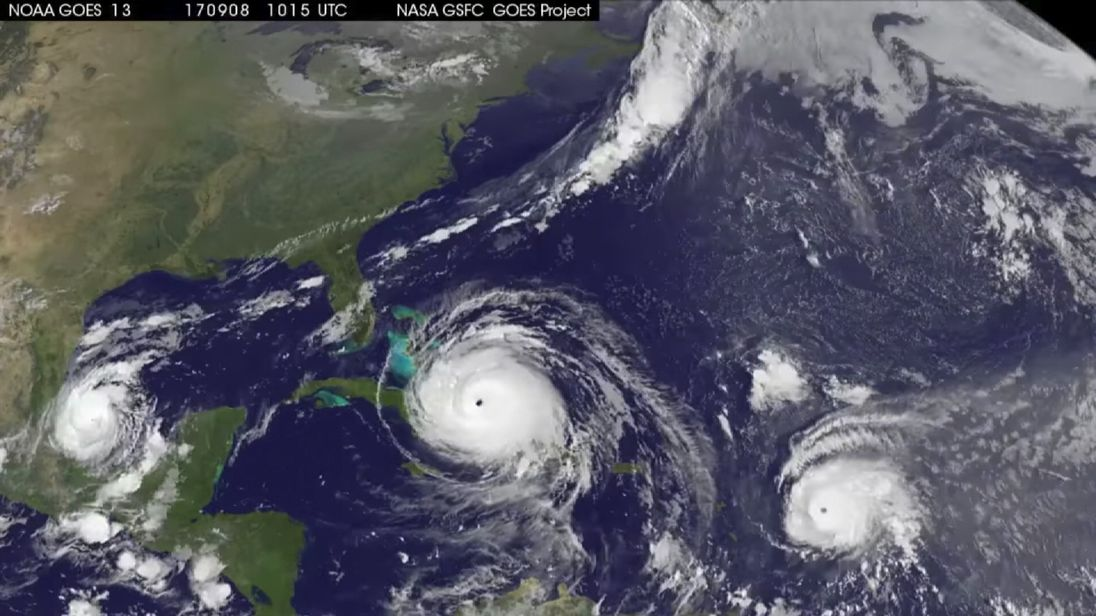 NASA animation shows paths taken by three Caribbean hurricanes