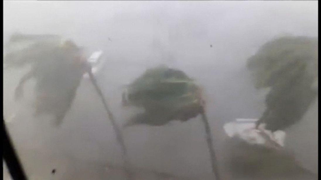 Hurricane Irma hits the British Virgin Islands