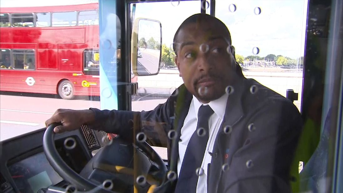 Oliver Salbris was driving a bus over Putney Bridge when a jogger apparently pushed a woman in front of his vehicle