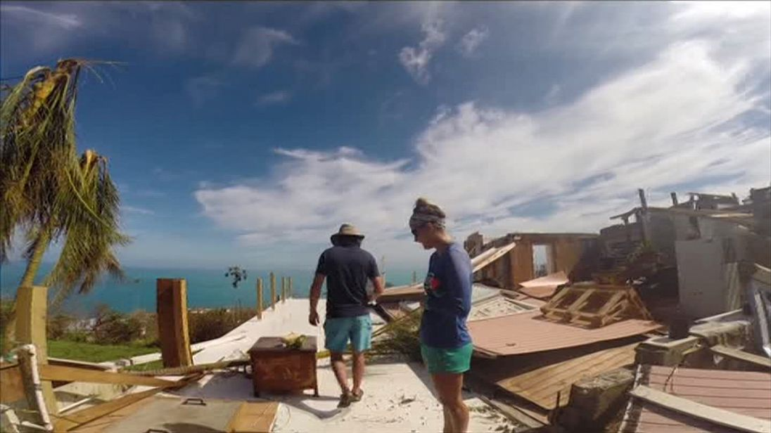 Jodi Jabis' home in the US Virgin Islands was badly damaged