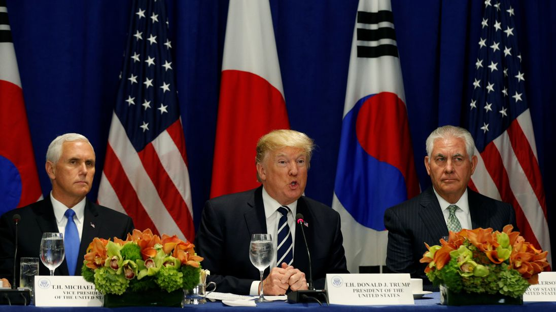 President Trump said the order would 'cut off sources of revenue' for Pyongyang