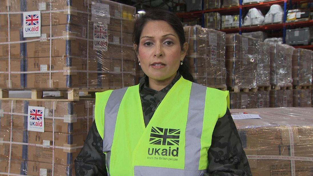 International Development Secretary Priti Patel dicsusses the UK's response to Hurricane Irma