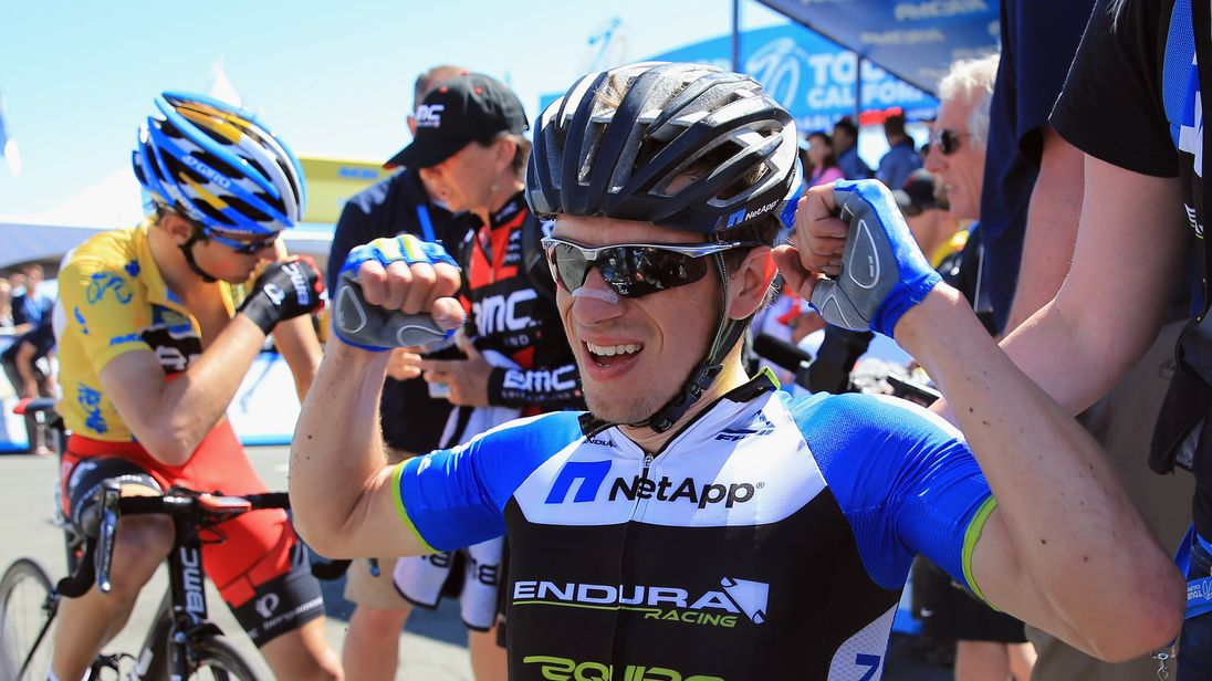 Leopold Konig wears an Endura top at the Amgen Tour in 2013