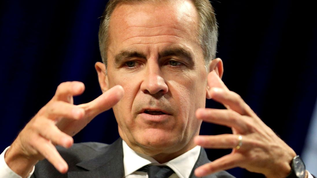 Mark Carney at the International Monetary Fund in Washington