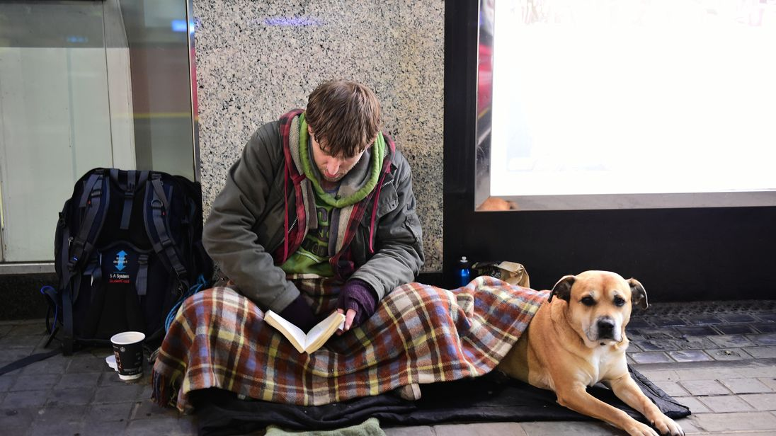 The homeless on the streets of London 23 December 2014