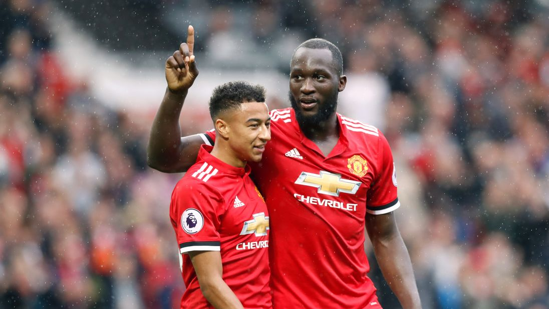 Romelu Lukaku goal celeb, Manchester United v Crystal Palace, Premier League