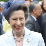 Princess Anne arrives at the Anglo-German club in Hamburg, Germany
