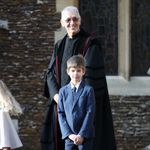 James, Viscount Severn attends a Christmas Day church service at Sandringham