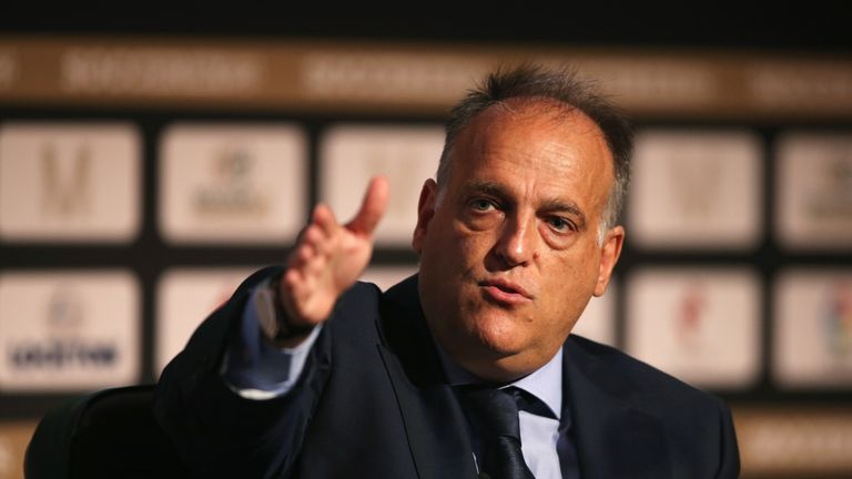 La Liga president Javier Tebas says he is worried about the stability of European football.