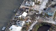 An aerial shot of Florida Keys after Hurricane Irma wreaked devastation