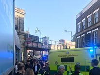 Emergency services at the scene. Pic: @EmmaStevie1