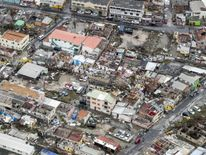 The damage of Hurricane Irma in Philipsburg, on the Dutch Caribbean island of Sint Maarten
