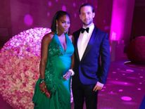Williams with her partner Alexis Ohanian