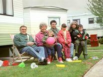 (from the left) Bill Tarmey, Liz Dawn, Daryl Edwards, Sean Wilson, Helen Worth, Lyndsay King and Thomas Ormson