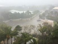 The hurricane hits the Turks and Caicos Islands