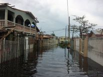 A flooded street is seen in the Juana Matos neighbourhood in Catano municipality, Puerto Rico