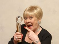 Liz Dawn with the Lifetime Achievements award at the British Soap Awards 2008