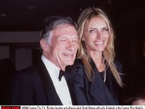 10/9/98 Playboy founder and editor-in-chief, Hugh Hefner with his wife, Kimberly