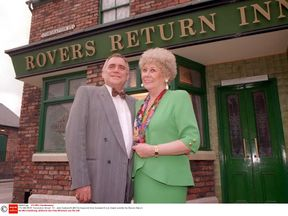 Jack Duckworth [Bill Tarmey] and Vera Duckworth [Liz Dawn]