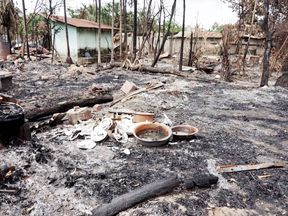 Torched village in Myanmar