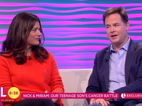 Nick Clegg and wife Miriam Gonzalez Durantez Credit: ITV