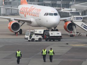 The flight was grounded in Bristol while four passengers were arrested, but continued its destination (File Pic)