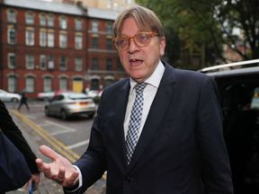 Guy Verhofstadt in Belfast at the start of a two day fact-finding mission