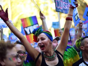 Some 20,000 protesters took to the streets in favour of changing the law on Sunday