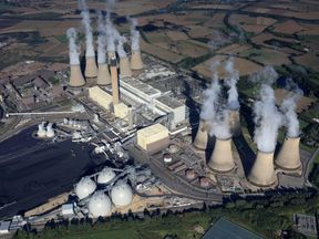 Drax Power Station in North Yorkshire from above