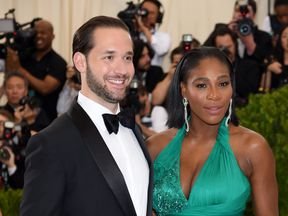 Alexis Ohanian (L) and Serena Williams attend the 'Rei Kawakubo/Comme des Garcons: Art Of The In-Between' Costume Institute Gala at Metropolitan Museum of Art on May 1, 2017 in New York City