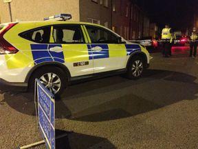 Police presence on Jeffrey Street in Newport