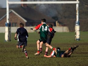 Children play rugby