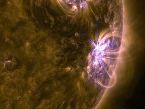 The solar flare is the largest in ten years
