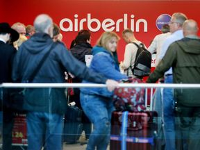The disruption at Air Berlin was hitting both its European and international services