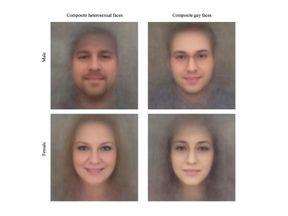 Composite faces of hetero- and homosexual Caucasian men and women