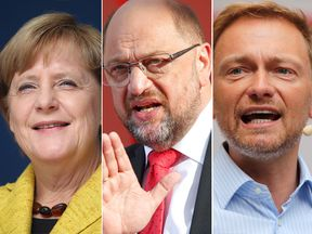Merkel, Schulz and Lindner
