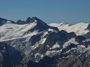 Trift glacier seen from mount Titlis