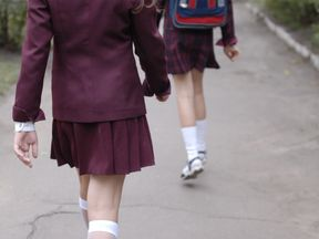 The ban is a move to make the school uniform 'gender neutral'